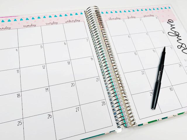 Teacher planner calendar