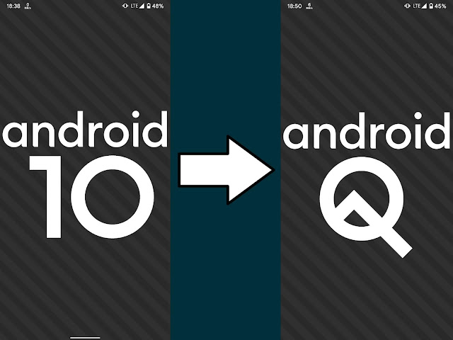 Easter Egg Android 10 menjadi Android Q