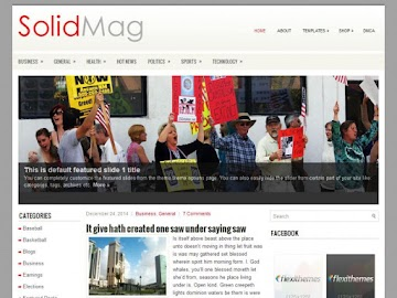 SolidMag - News and Magazine WordPress Theme By FlexiThemes