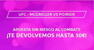 Mondobets promo Mc Gregor vs Poirier UFC desde 18-1-2021