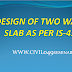 Easy Step by Step process of Two way slab design as per IS-456
