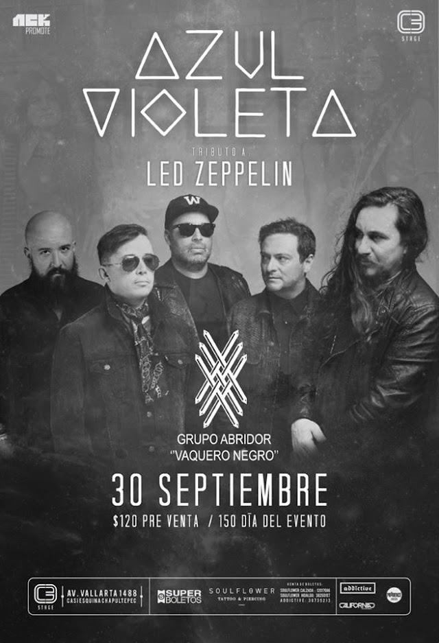 Azul Violeta tributo a Led Zeppelin/30 septiembre/C3 Stage