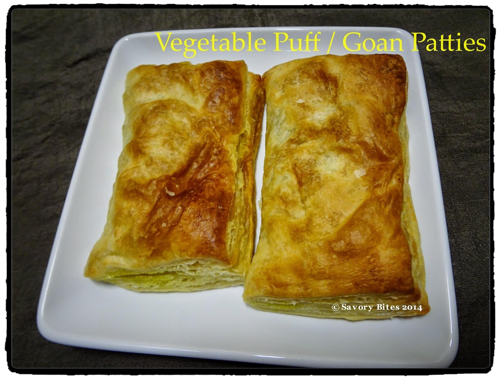 Snacks Goan Patties Vegetable Puff