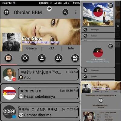 Download BBM Mod Tema abu-abu