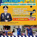Polres Pelabuhan Tanjung Perak Gelar Lomba Bola Volly, 27-28 September 2018