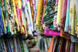Silks Ein Dong Markt, Vietnam