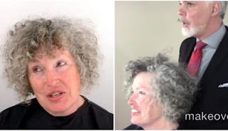 Δεν την γνώριζαν ούτε τα παιδιά της. Μπήκε στο κομμωτήριο με γκρίζα, κατσαρά μαλλιά και αλλιώς βγήκε!