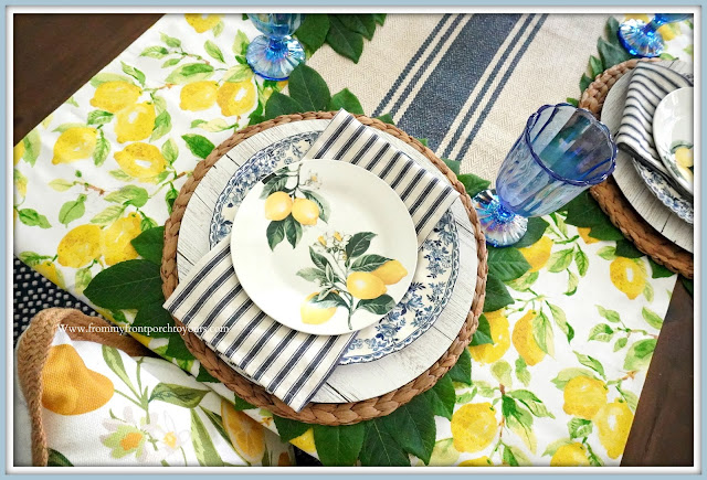 French Farmhouse-Dining Room-Lemon Place Setting-From My Front Porch To Yours