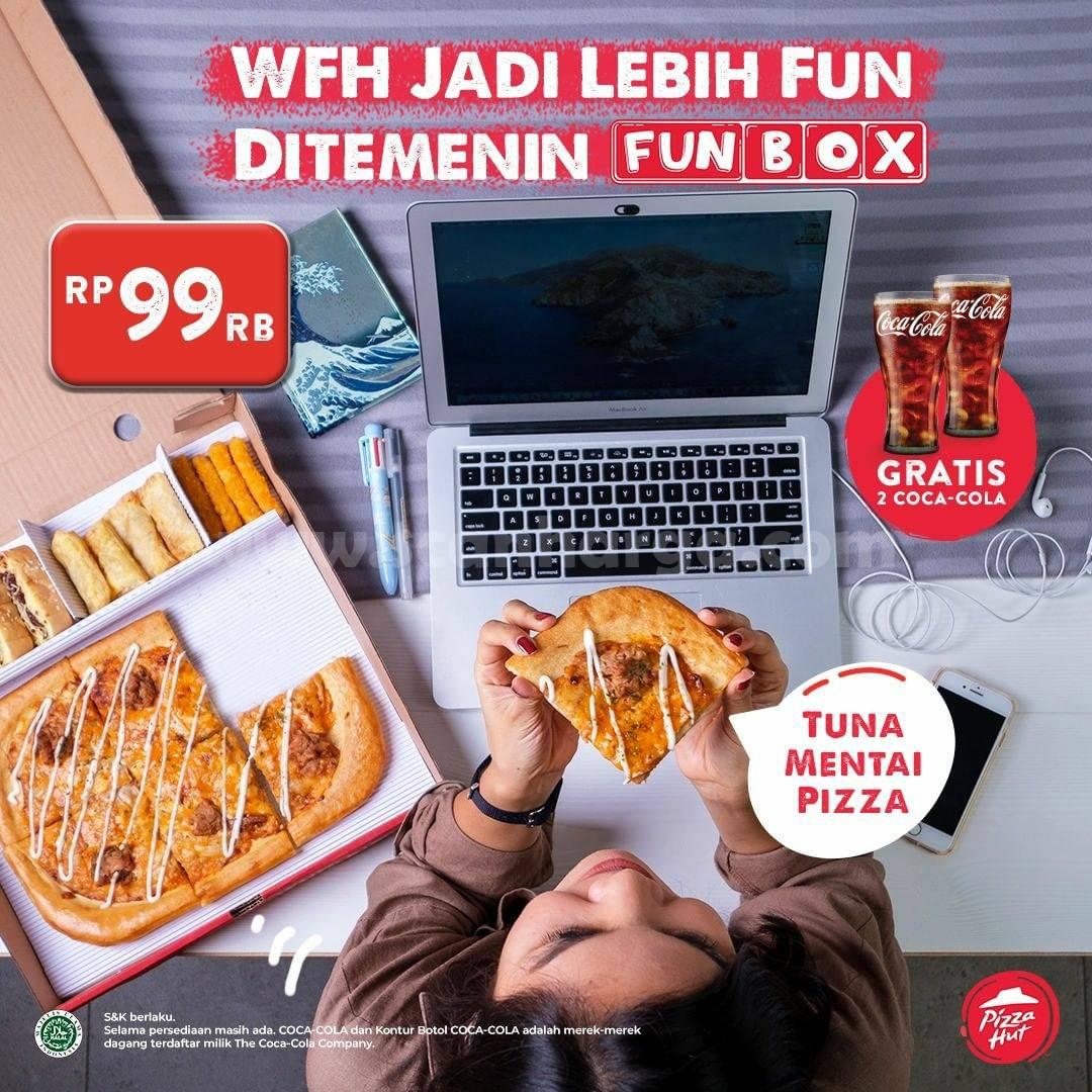 Pizza HUT Promo Paket Fun Box TUNA Mentai Pizza – Harga hanya Rp. 99.000 paket