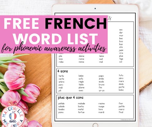 """Looking for a go-to list of French words where all the letters """"talk"""" to help with phonemic awareness practice? Check out this blog post and grab your copy!"""