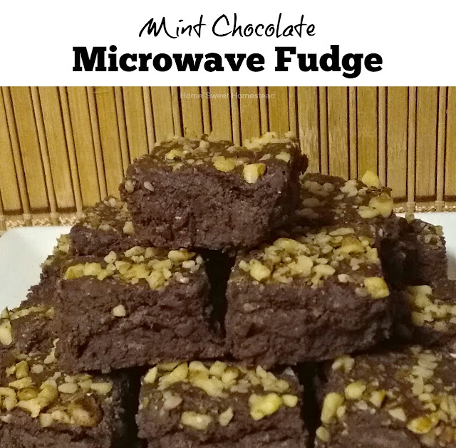 Home Sweet Homestead: Mint Chocolate Microwave Fudge