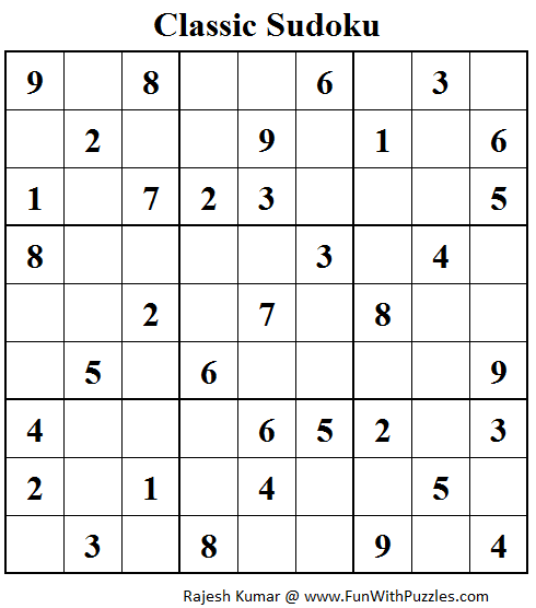 Number Place (Fun With Sudoku #59)