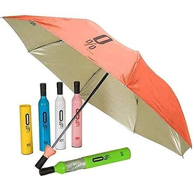 Newest Windproof Double Layer Umbrella for Rain & UV Protection with Bottle Cover