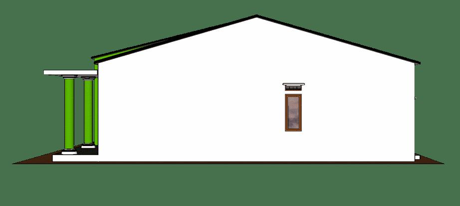 Tampilan rumah simple sisi kanan