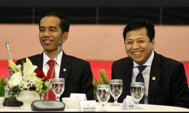 Mega Lebih Sreg Jokowi Berpasangan Setnov