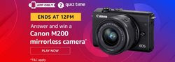 Amazon Quiz 10 December 2019 Answer Win - Canon M200 Mirrorless Camera