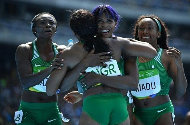 Blessing Okagbare and Team Nigeria qualify for 400m female relay at 2016 Olympics
