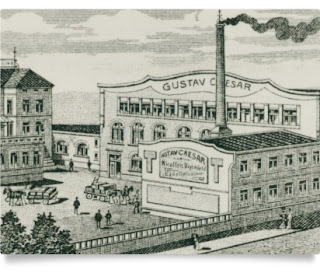 Gustav Caesar GmbH - drawing of factory (image from Gustav Caesar website)