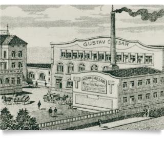 Gustav Caesar GmbH - drawing of factory (image from Gustav Caesar website)