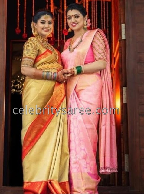 Sneha and her Sister Soft Silk Sarees