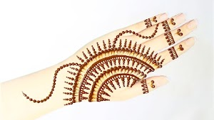 Latest easy Simple Mehndi Design tricks with Cotton earbud Images 2020