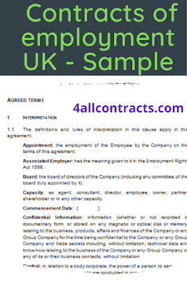 How to write an employment contract ?