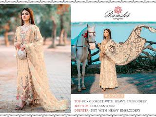 Ramsha R 276 Nx Pakistani Suits catalog wholesale Price