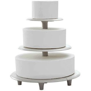Simple Towering Tiers Wedding Cake Stands