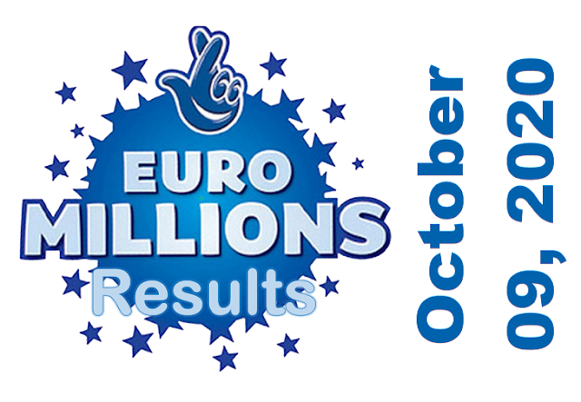 EuroMillions Results for Friday, October 09, 2020