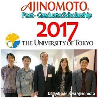 beasiswa kuliah s2 di jepang ajinomoto scholarship