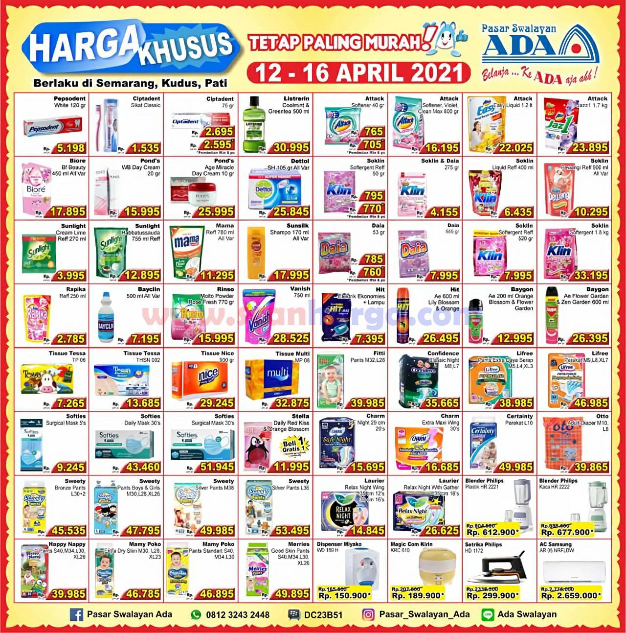 Promo Katalog Ada Swalayan Weekday Harga Khusus 12 - 16 April 2021 2
