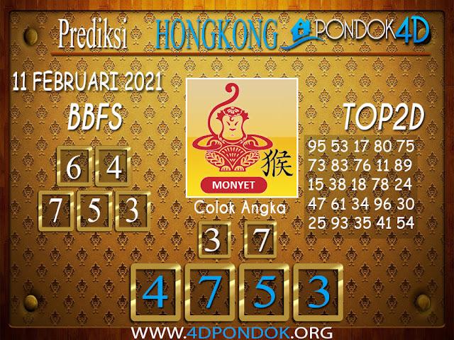 Prediksi Togel HONGKONG PONDOK4D 11 FEBRUARI 2021