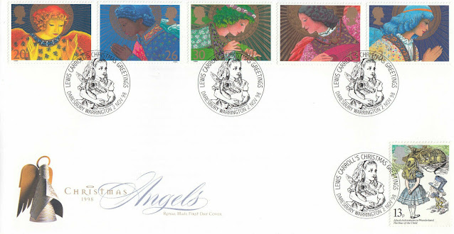 GB FDC Christmas + Alice in Wonderland Lewis Carrol