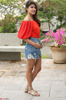 Rhea Chakraborty in Red Crop Top and Denim Shorts Spicy Pics ~  Exclusive 137.JPG