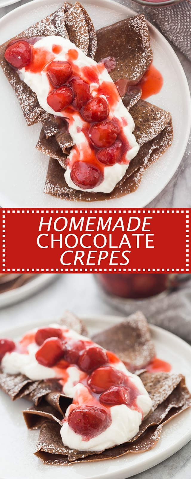 HOMEMADE CHOCOLATE CREPES
