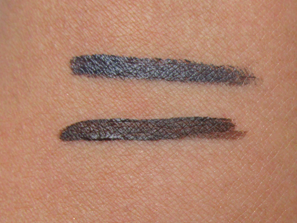 alverde creme Eyeliner graphit grey & Gel Eyeliner - Espresso Brown Swatches