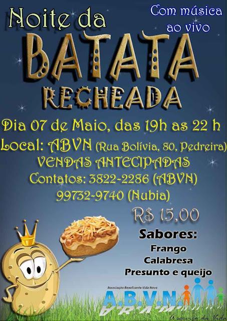 Noite da Batata Recheada com música ao Vivo em Registro-SP (ABVN)