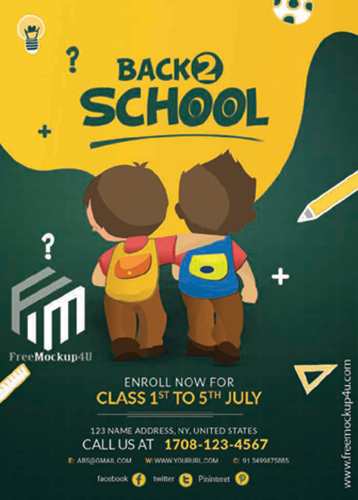 Back To School Template PSD Free Download