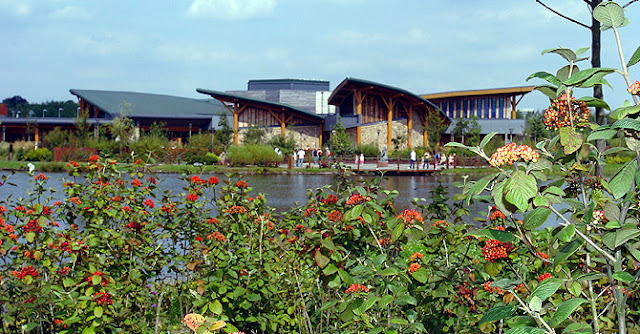 Exterior of Conkers visitors centre