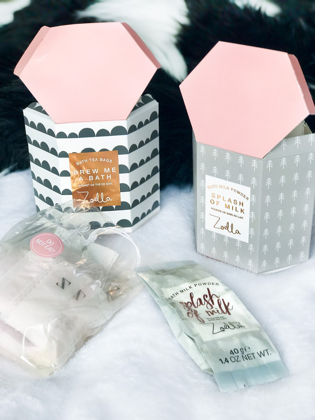 Zoella Beauty 2017 Christmas Gifting Bath Teabags Brew Me A Bath Bath Milk Powder
