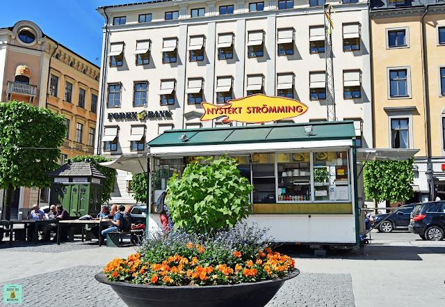 Nystekt Strömming, comer barato en Estocolmo