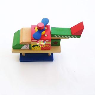Balok Helikopter Mainan Kayuku Agdia Toys