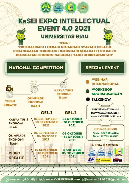 KaSEIVENT 4.0 ada Lomba Karya Tulis Ekonomi Islam dan Olimpiade Ekonomi Islam