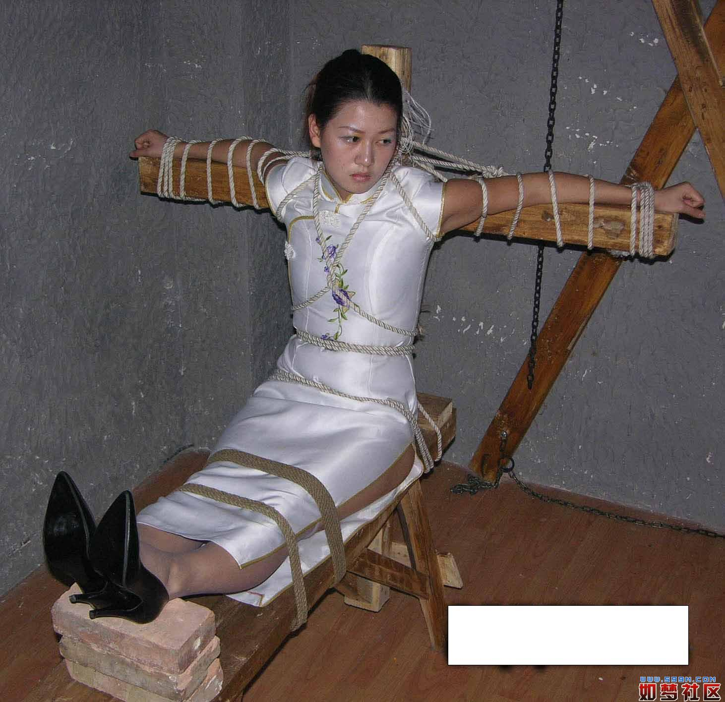 Girls tied spread-eagle on beach bondage punished executed xxx