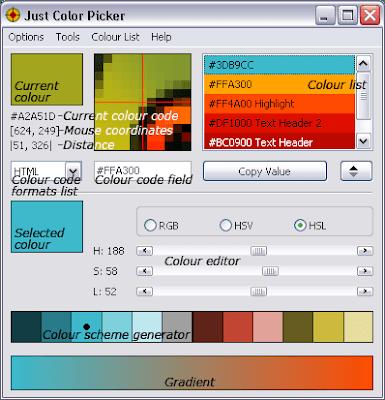 تحميل برنامج اختيار الالوان 2020 Just Color Picker
