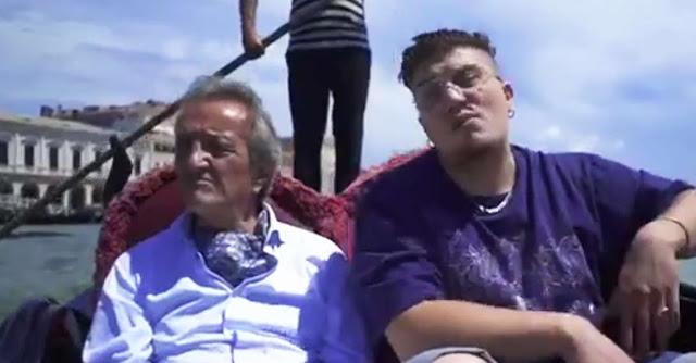Giampaolo Manca e Doog in gondola nel video de ''Il Doge Veneziano''