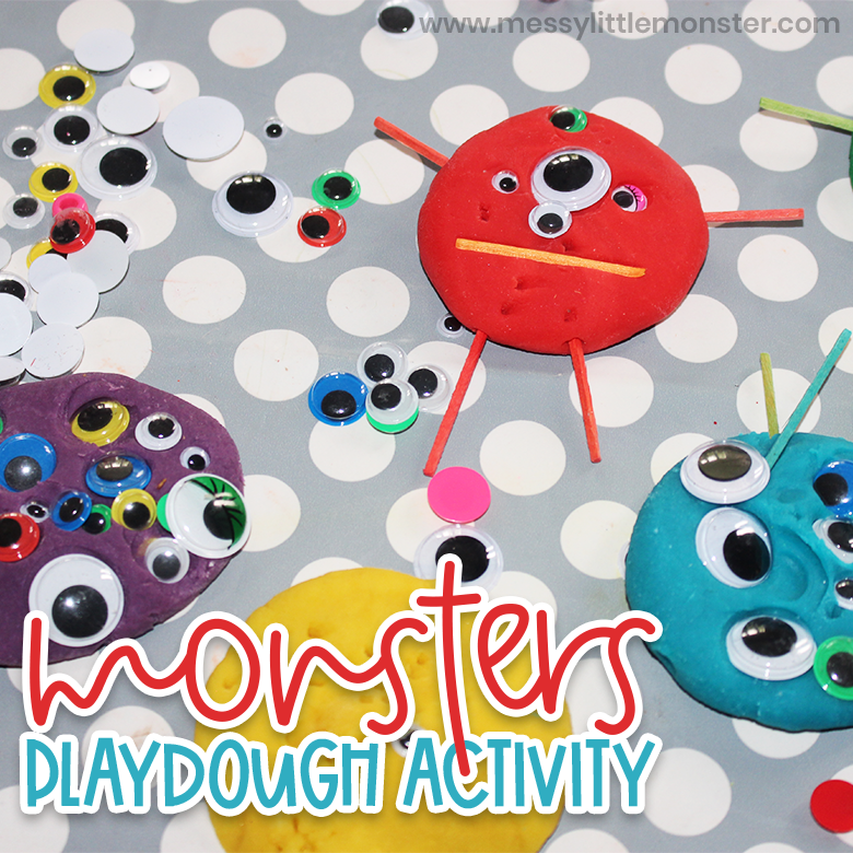Playdough monsters counting activity