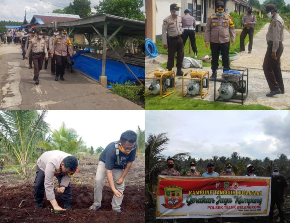 Polres Inhil, Riau Pantau Kesiapan Pencegahan dan Penanganan Karhutla di Kecamatan