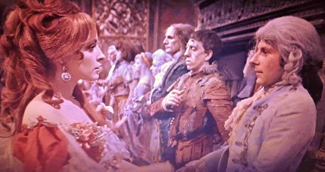Sharon Tate e Roman Polanski em A dança dos vampiros