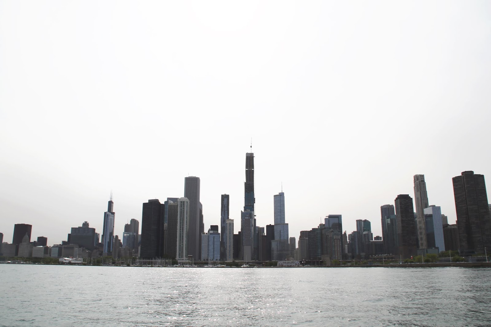 Chicago skyline from water, Chicago city skyline view, Summer in Chicago
